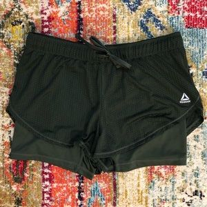Reebok Layered Mesh Workout Shorts